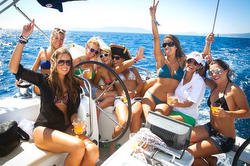 J/120 owner- Bob Brunius- birthday party in Caribbean