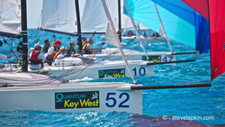 J/70s sailing Key West Race Week