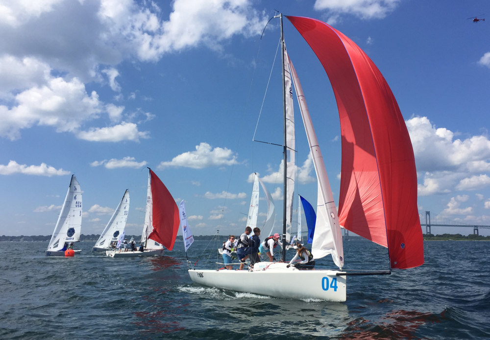 J/70s sailing Youth Champs