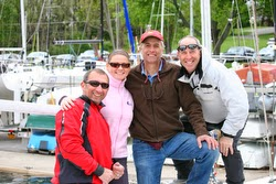 J/22 sailors at Jack Rabbit regatta- Lake Canandaigua, NY
