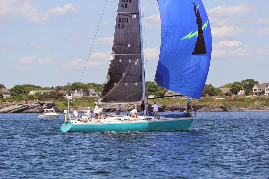 J/44 Gold Digger sailing off Newport, Rhode Island