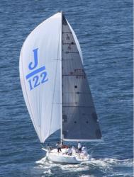 J/122 Jackpot sailing off Sydney, Australia offshore series