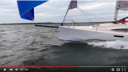J/112E Bay sail big breeze sailing video
