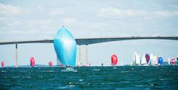 J/70 sailing downwind- Conanicut Round Island Race
