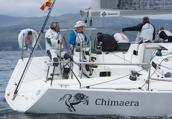 J/109 sailing Scottish Series off Tarbert, Scotland