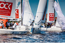 J/70s racing Russia Sailing League off Moscow