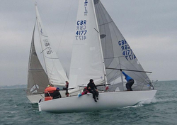 J/24 sailing Autumn Cup in Parkstone, England