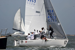 J/24 sailing Europeans in Germany