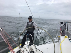 J/111 woman skipper in Double Farallones Race