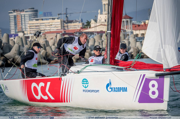 J/70 Russian sailing team off Sochi