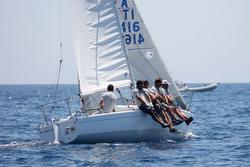J/24 sailing Italy