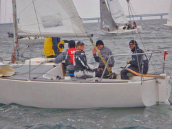 J/24 Hungary sailors at Swedish Open