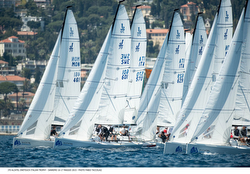 J/70s sailing in Italy