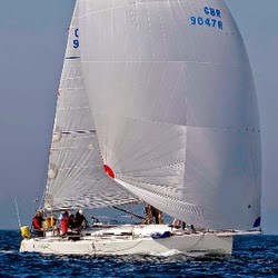 J/109 offshore cruising racing sailboat off Ireland