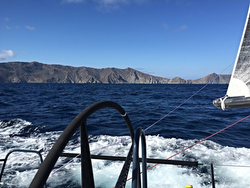 J/125 sailing off Catalina Island