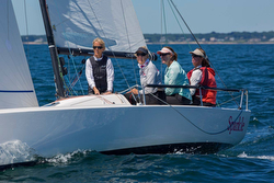 J/70 Newport women's team- Sparkle- Hannah Swett and Martha Parker