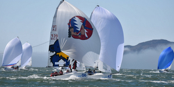 J/70 Worlds action on San Francisco Bay