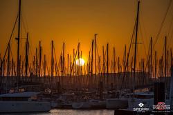 J/70 fleet at sunsent- La Rochelle, France