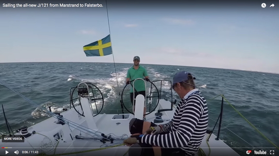 Fun J/121 downwind sailing video- 13 kts average, burst to 19 kts!