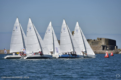 J/80s sailing World University Championship off France