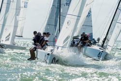 J70s sailing Miami Midwinters