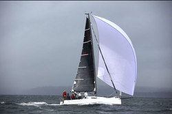 J/88 sending it down Puget Sound- world's most awesome 29 foot sailboat