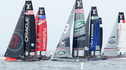 America's Cup AC45 foiling catamarans