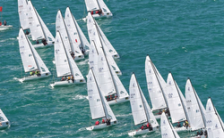 J/70 fleet starting off Key West Race Week