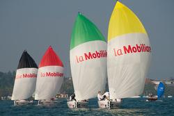 J/70s sailing Swiss Sailing League