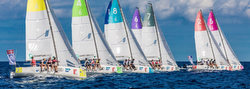 J/70s sailing Champions League off Porto Cervo, Sardinia