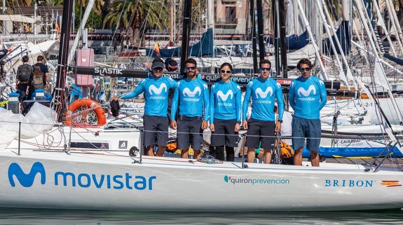 J/80 Bribon Movistar team in Barcelona, Spain