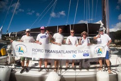J/133 Apollo 7 crew- RORC Trans-Atlantic Race IRC 2 Class winners