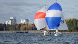 J/80s sailing match race in helsinki, finland