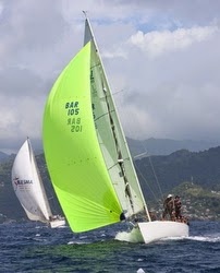 J/105 sailing fast off Grenada