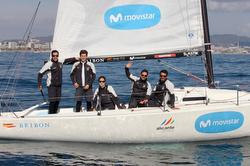 J/80 sailing off Barcelona