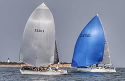 J/29 and J/120 sailing Round Island