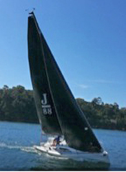 J/88 JEDI sailing Sydney Harbour, Australia