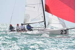 J/70 sailing fast off Miami, FL