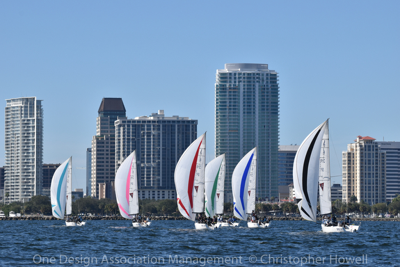 U.S. J/70 Youth Champs- off St Petersburg, FL skyline and waterfront