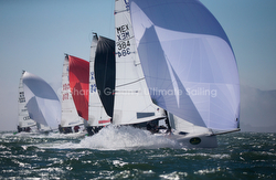 J/70s sailing fast down reach