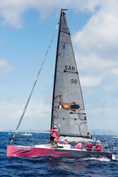 J/88 sailing St Barth Regatta