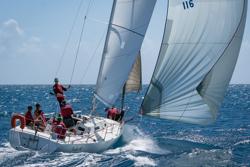 J/105 sails Heineken St Maarten regatta