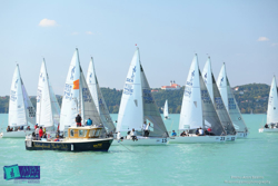 J/24s sailing on Lake Balaton, Hungary