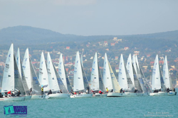 J/24s sailing on Hungary's Lake Balaton