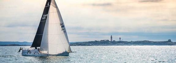 J/111 sailing off Sweden