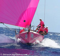 J/88 PINK- aka Touch2Play racing from Canada sailing St Thomas!