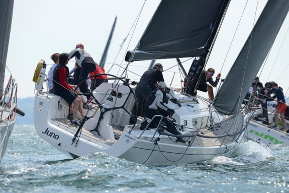 J/122E sailing on Solent, England