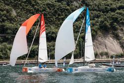 J/70s sailing on Lake Garda, Italy