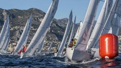 J/70s sailing to mark off Monte Carlo, Monaco