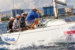 J/80 Russian sailing team- off Cyprus